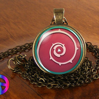 Steven Universe Shield Necklace Cosplay Glass Photo Pendant Jewelry Toy Gift