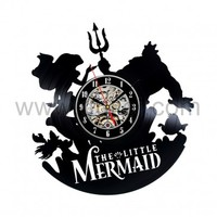 Cute Mermaid Handmade Vinyl Clock Bedroom Decor Gift