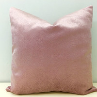 Blush Pink Velvet Pillow Cover, Pink Pillow, Velvet Pillow, Throw Pillows, Rose Pink Velvet Decorative Pillows, Pink Velvet Cushion Covers