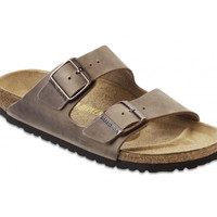 Love Birkenstock Arizona Natural Leather in Tabacco Brown (Classic Footbed - Suede Lined)