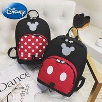 2018 Disney Mickey Mouse Backpack Children Girls School Bag Cute  Kids Boy Backpacks New Polyester Cartoon Kindergarten Bags