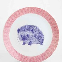Plum & Bow Critter Plate- Coral One