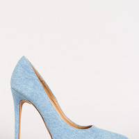 Shoe Republic Religion Denim Pointy Toe Pump
