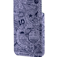 Best 3D Full Wrap Phone Case - Hard (PC) Cover with One Direction Lyrics Collage Design