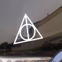 Deathly Hallows Harry Potter Car Window Decal Sticker