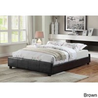 Walmart: Furniture of America Miuralli Leatherette Low-profile Queen Bed Frame