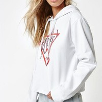 VONE05W Guess x PacSun Flames Cropped Hoodie