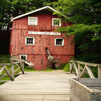 Busti Cider Mill Photograph - Old Rustic Country Building Art - New York