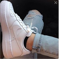 "Alwayn Hot Sale ""NIKE'' Trending Women Men Stylish Sport Shoes Sneakers Air force White"