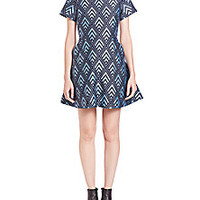 Markus Lupfer - Diamond Chevron Ivy Dress - Saks Fifth Avenue Mobile