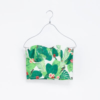 PRINTED CORSET WITH SIDE ZIP - T - shirts - TRF | ZARA United States