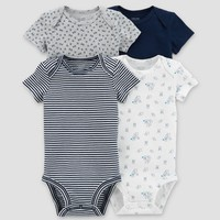 Baby Boys' 4pk Bodysuit Set - Just One You™ Made by Carter's® Blue