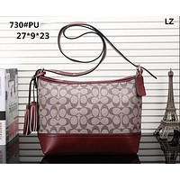 COACH style fashion new women's bag shoulder bag female Messenger bag Apricot red