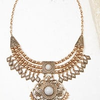 Medallion Bib Necklace - NEW ARRIVALS - 1000143153 - Forever 21 UK