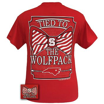 Tied To NC State Wolfpack Big Prep Bow Girlie Bright T Shirt