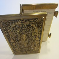Demley Signature Brass Bridge Game Record Keep Note Pad Holder