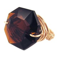 Jacqueline Zsa Zsa Bling Ring Rose Gold