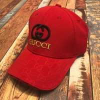 """Gucci"" embroidery Strap Cap Adjustable Golf Snapback Baseball Hat"