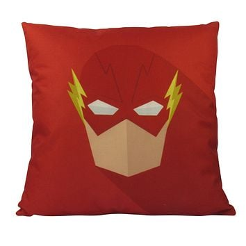 Vector | Flash Art |  Superhero | Fun Gifts | Pillow Cover | Home Decor | Throw Pillows | Happy Birthday | Kids Room Decor | Kids Room