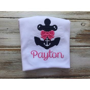 Girls Anchor shirt or Onesuit