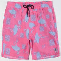 Volcom Fun Mentaler Mens Volley Boardshorts Pink  In Sizes
