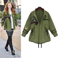 SIMPLE - Autumn Women Green Outerwear Jacket a12933
