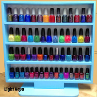 """Freestanding Nail Polish Rack for Full Size Bottles with Built In Stand for Desk, Table, or Vanity, over 20 Color Choices - """"Daft Whimsit"""""""