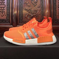 DCCK A165 Adidas NMD Paillette Breatheable Casual Running Shoes Orange
