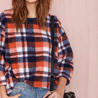 Plaid Habit Fleece Sweatshirt