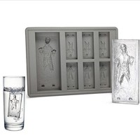 NEW Star Wars Ice Tray Han Solo Cocktails Ice Cubes maker mold