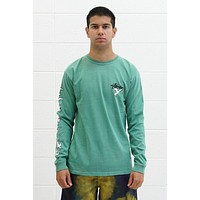 One Love L/S Tee in Moss