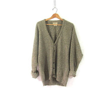 Vintage Button Up Cardigan. Preppy Oversized Sweater Cardigan. baggy sweater / size M
