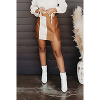 Friend Or Faux Skirt (Brown)