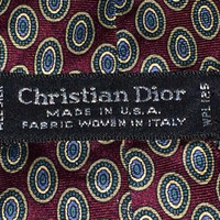 Sale!! Vintage CHRISTIAN DIOR mens designer pure silk neck tie Made in Usa Free US shipping