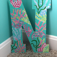 Lilly pulitzer inspired letter