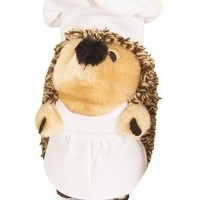 Petmate Hedgehog Heggie Cooking Chef Plush Dog Toy