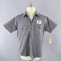 Miller High Life Beer / Delivery Man / Dark Gray Large Short Sleeve / Work Shirt / Beer Patch / Patches