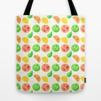 Citrus Pattern Tote Bag by Adorkible