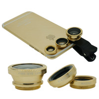 3 in1 Universal Fisheye / Wide Angle /  Macro Lens Kit  Cellphone Mobile Phone Set for Samsung / iPhone 6 6s Plus / Huawei/ Sony