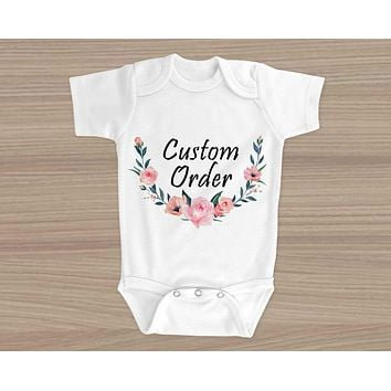 Personalized Baby Onesuit | Custom Baby Gifts | Baby Shower | Custom Order