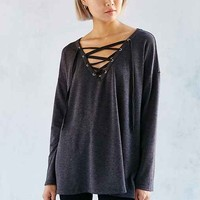 Silence + Noise Rex Lace-Up Tunic Top