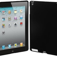 Cimo Smart Cover Compatible Companion Back Cover Case for the new Apple iPad, 3rd + 4th Generation (Black)