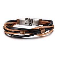 Leather Bracelet Punk Jewelry