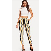LINED UP RIGHT ANKLE PANTS