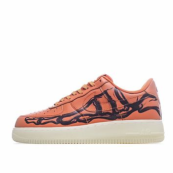 Nike Air Force 1'07 Skeleton QS  Bags Discount Women's Men's 2020 New Fashion Casual Shoes Sneaker Sport Running Shoes