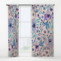 """Window curtains - Single, Double, Panel, 50""""x84"""" each, Home, Decor, Bedroom, Kitchen, Style, Pink, Purple, Gift, Designer, Abstract, Modern"""