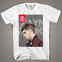 ZAYN MALIK One Direction  Mens and Women T-Shirt Available Color Black And White