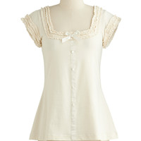 Effie's Heart French Mid-length Cap Sleeves Let's Get Baking! Top in Flour