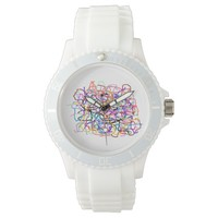"""""""loose threads"""" abstract wrist watch"""