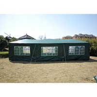 Outsunny 10' x 30' Party Gazebo Tent with 8 Walls - Green